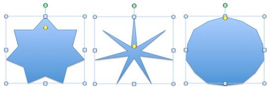 A 7 pointed star's edges gets more pronounced and blurred