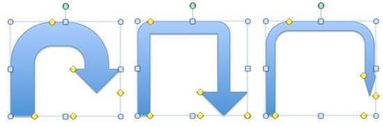 A U-turn Arrow with a modified curve and arrowhead