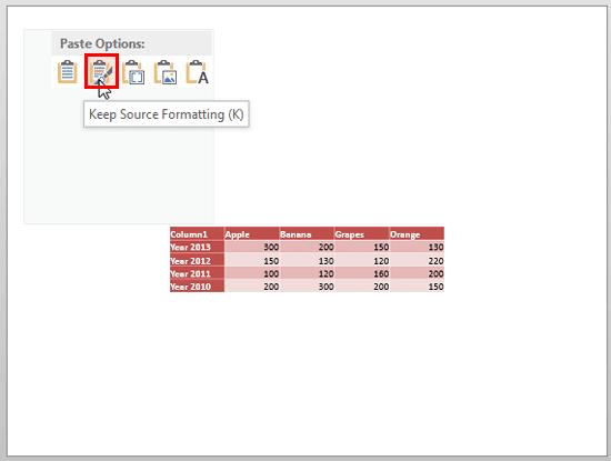 Keep Source Formatting (K) option