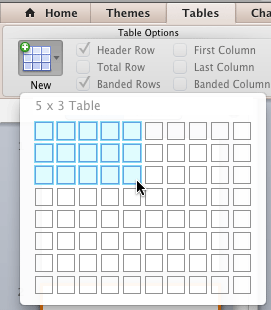 Highlighted cells indicate the number of columns and rows being added