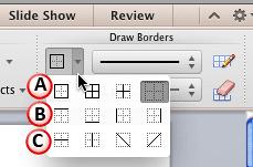 Borders drop-down gallery