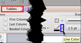 Click the down-arrow beside the Line Color button