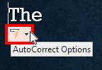Show the AutoCorrect SmartTag button