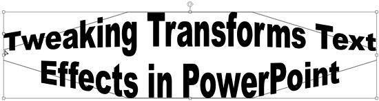 Transform effect being tweaked using the pink handle