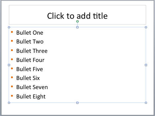 Bullet color and size are changed