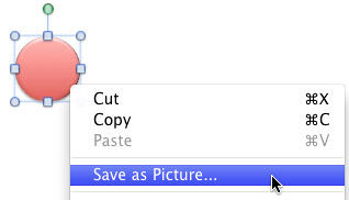 Save as Picture option to be selected