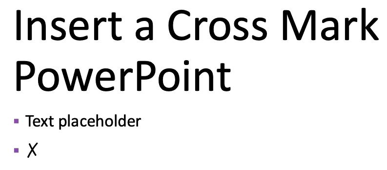 Cross mark checked