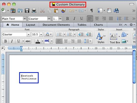 Edit the dictionary as you would edit any word document