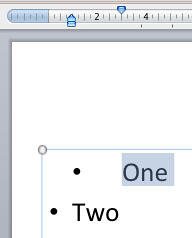 Bullet character's position unaffected even after moving the First Indent Marker