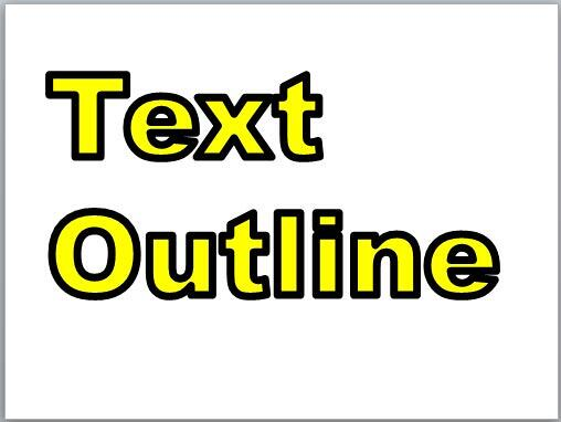 Text with large font size and thick outline