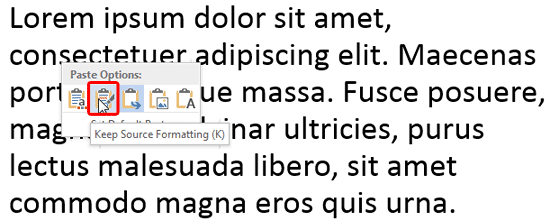Keep Source Formatting option