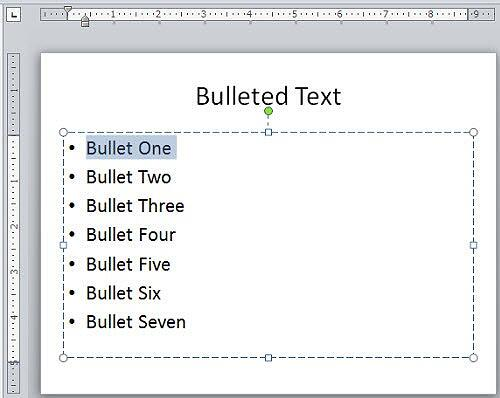 Rulers made visible in PowerPoint 2010 interface