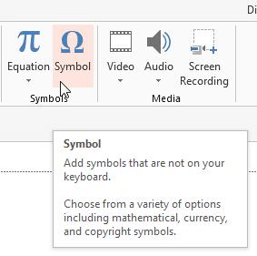 Click the Symbol button