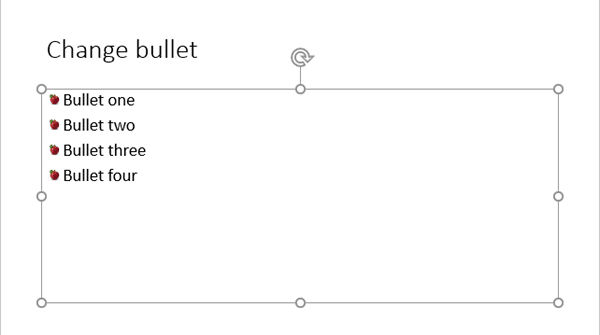 Bullets now use pictures