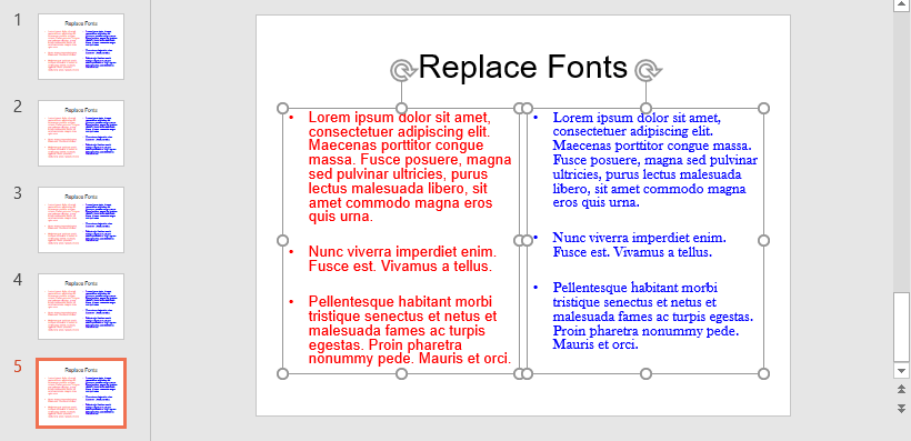 Presentation that uses Arial and Baskerville Old Face fonts