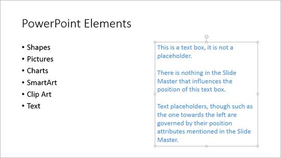 Text box selected
