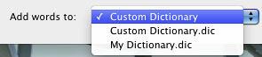 List of Custom Dictionaries