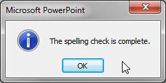 PowerPoint message window