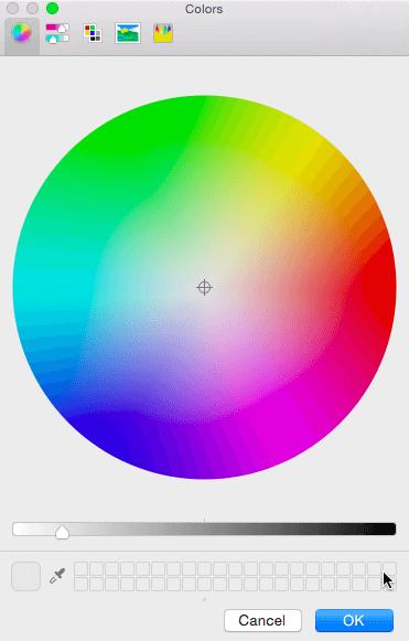 Mac OS X Color picker