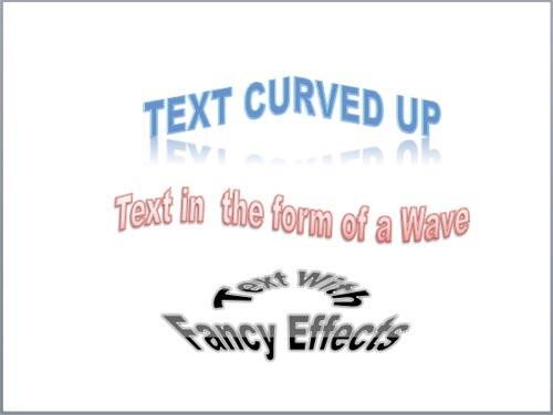 Examples of Transforms text effect for text