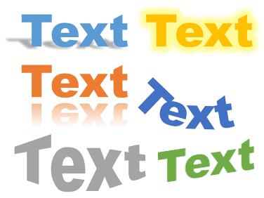 Text Effects can make a difference