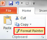 Format Painter button within Clipboard group