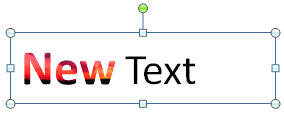 Text attributes pasted on to the new text