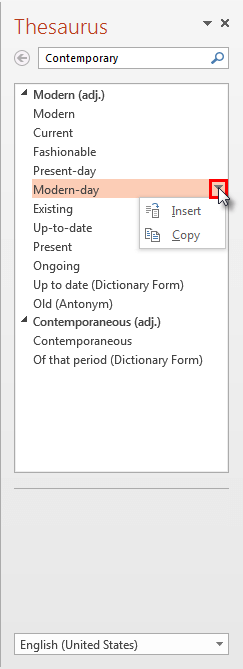 Options to use the word of your choice
