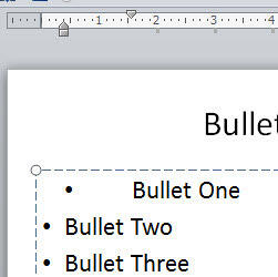 Bullet character's position unaffected after moving the First Indent Marker