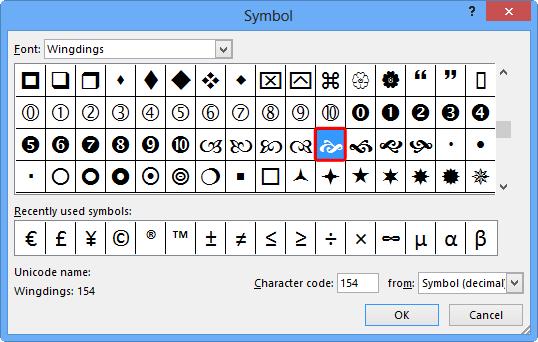 Symbols preview