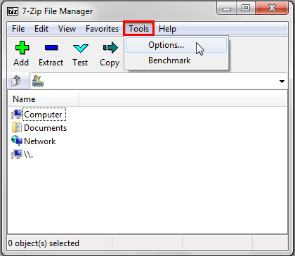 7-Zip File Manager window