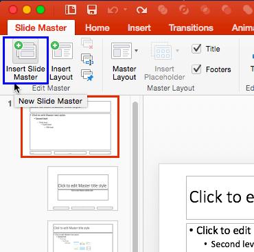 Insert Slide Master button