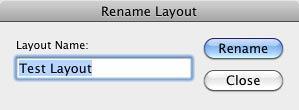 Rename Layout window