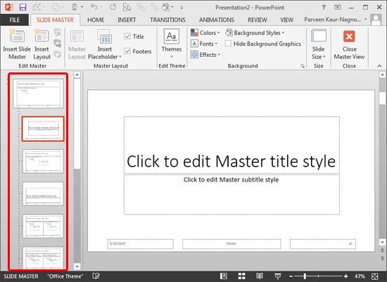 Default Slide Master