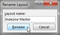 Rename the new Slide Master