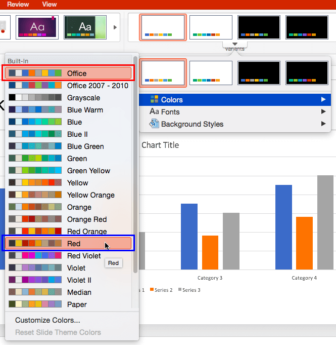 Colors sub-gallery