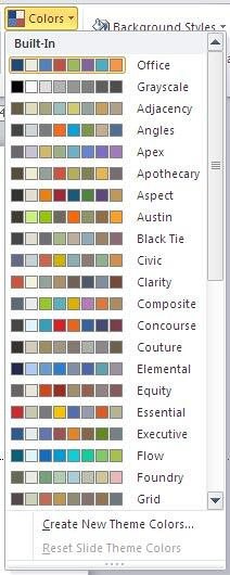 Theme Colors gallery