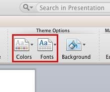 Theme Colors and Theme Fonts options