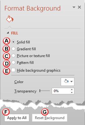 Format Background Task Pane