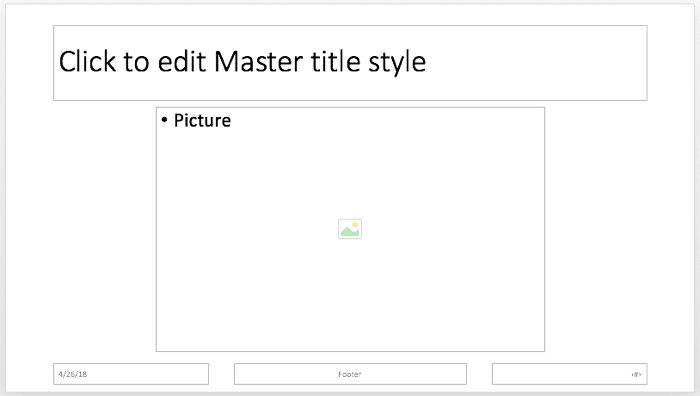 Picture placeholder within the Slide Layout