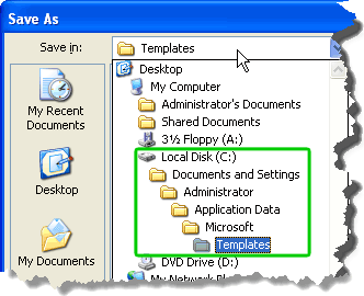 Click to find out the path to the folder