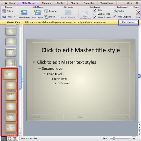 Duplicated Slide Master