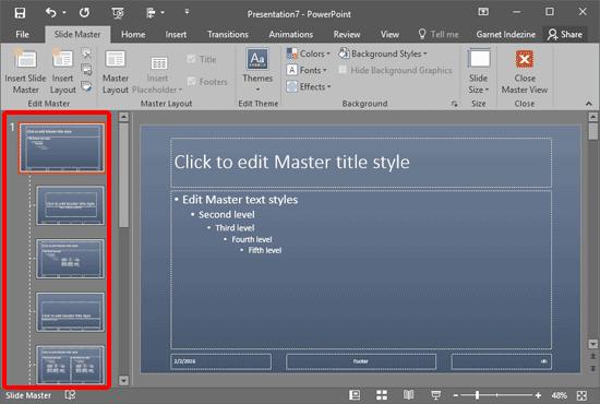 Existing Slide Master