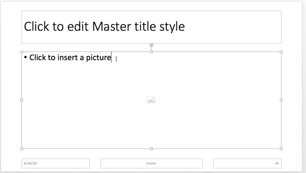 Boilerplate text changed for the picture placeholder