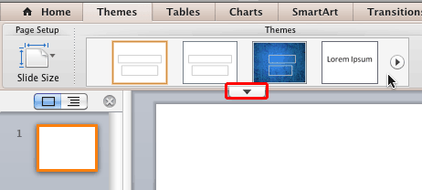 Themes in PowerPoint 2011