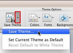 Save Theme option