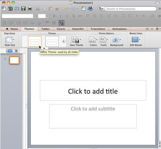 Presentation applied with Office Theme