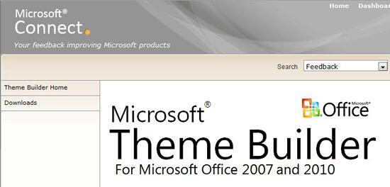 Theme Builder Home page displaying the compatibility of Theme Builder
