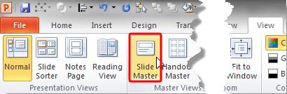 Slide Master button