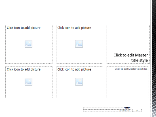 Customized Picture Slide Layout
